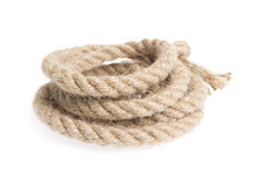 Rope isolated on white. Background stock images