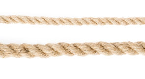 Rope isolated on white Royalty Free Stock Photo