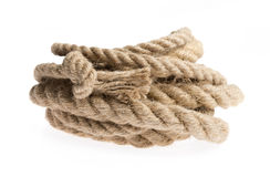 Rope isolated on white Royalty Free Stock Image