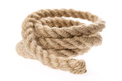 Rope isolated on white Stock Photography
