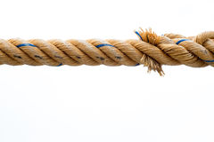 Rope isolated. Rope is isolated on a white background stock image