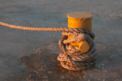 The rope on the jetty Stock Images