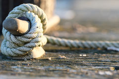 Rope on jetty Stock Photos