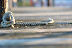 Rope on jetty Stock Photography