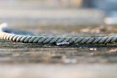 Rope on jetty Stock Image