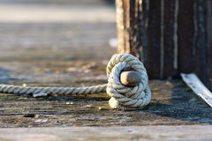Rope on jetty Royalty Free Stock Image
