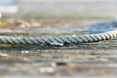 Rope on jetty Stock Photo