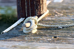 Rope on jetty Royalty Free Stock Photos