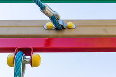 Rope with joints in the playground. Closeup Royalty Free Stock Photo