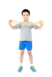 Rope jumping boy Stock Photography