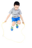 Rope jumping boy Royalty Free Stock Photo
