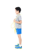 Rope jumping boy Royalty Free Stock Images