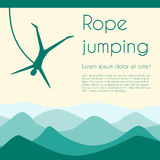 Rope jumping Royalty Free Stock Image