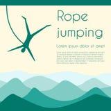 Rope jumping Royalty Free Stock Image