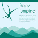 Rope jumping Stock Photos