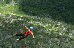 Rope Jumping.Bungee Jumping. Stock Images