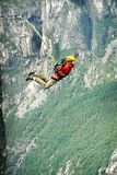 Rope jumping.Bungee jumping. Royalty Free Stock Photo