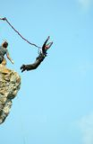 Rope jumping. Stock Images