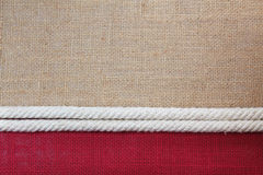 Rope with jute. Cloth texture background Stock Photography