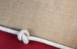 Rope with jute Stock Photos