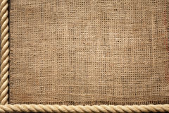Rope and jute old vintage background Royalty Free Stock Photo