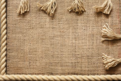 Rope and jute old vintage background Royalty Free Stock Image