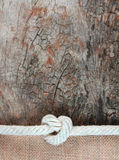 Rope with jute and old wood Stock Image