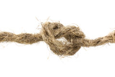 Rope with a knot Royalty Free Stock Photo