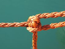 Rope and knot stock photography