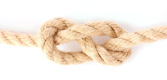 Rope with knot Stock Image