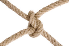 Rope knot. Isolated on white Stock Photography