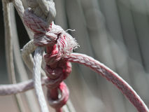 Rope. A rope with a knot Royalty Free Stock Images