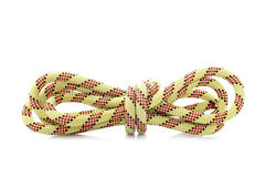Rope with knot. Reflected on white background Royalty Free Stock Photo