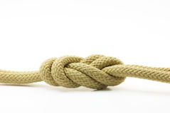 Rope knot. Figure double Eight stock image