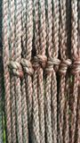 Rope. Knot for background Stock Photo