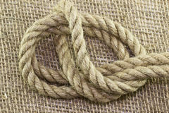 Rope And Knot On Background Stock Photography
