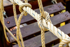 Rope with a knot Royalty Free Stock Images