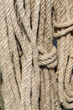 Rope with knot Stock Photo