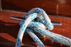 Rope. /  knot close-up shot stock illustration