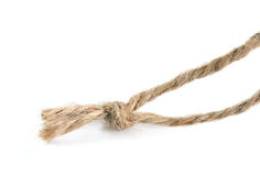 Rope knot. Royalty Free Stock Image