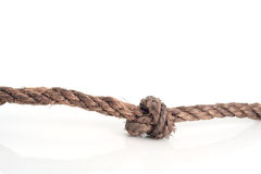 Rope knot. Stock Photos
