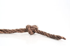 Rope knot. Royalty Free Stock Photo