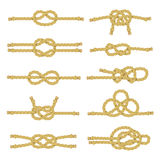 Rope Knot Decorative Icon Set Stock Image