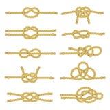 Rope Knot Decorative Icon Set Stock Image