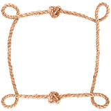 Rope knot frame Stock Photography