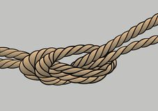 Rope knot isolated Stock Photo