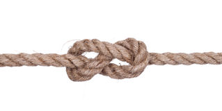 Rope with knot Royalty Free Stock Photography