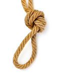 Rope with knot Royalty Free Stock Image