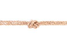 Rope knot. Isolated on white background Royalty Free Stock Images