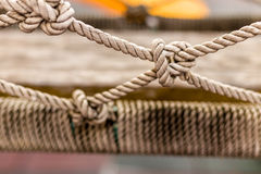 Rope Knot Texture / Rope Knot / Close-up Rope Knot Revealing Texture Royalty Free Stock Photography